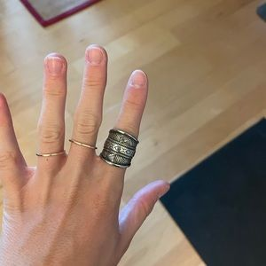 Free people silver statement ring